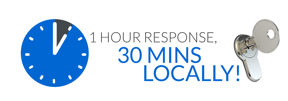 a one hour response time or even less locally